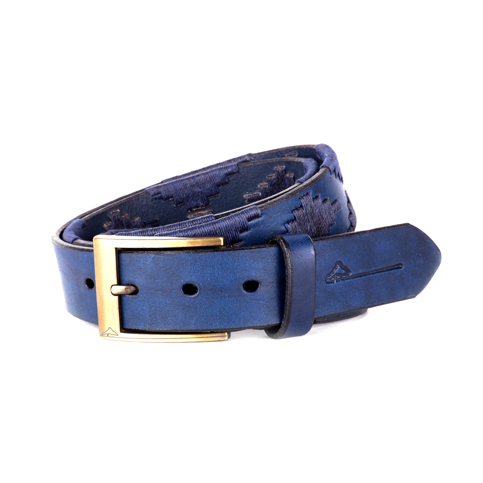 pampeano - marino coloured leather belt